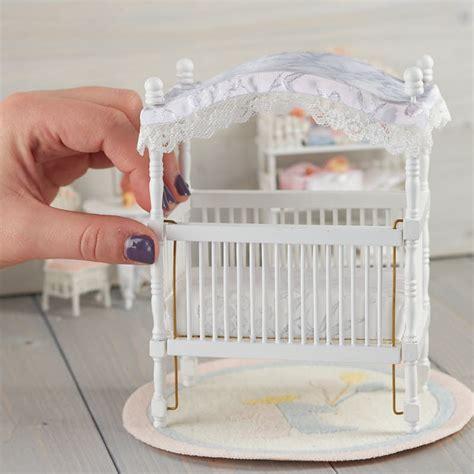 dollhouse miniature canopy baby crib nursery miniatures