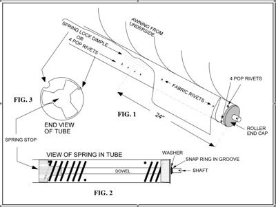rv awning parts diagram rv awning spring replacement parts