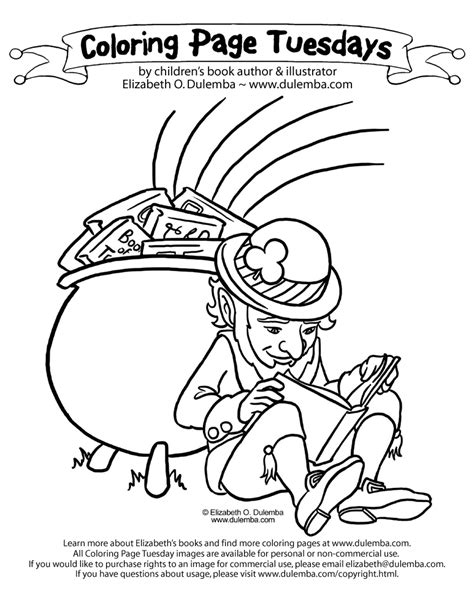 girl leprechaun coloring pages az coloring pages