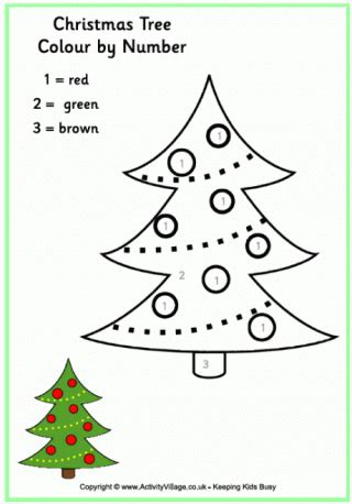 christmas colour themes uk christmas colour by number