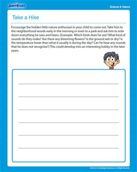 Third Grade Science Worksheets by Take A Hike Free Science Worksheet For 3rd Grade Jumpstart