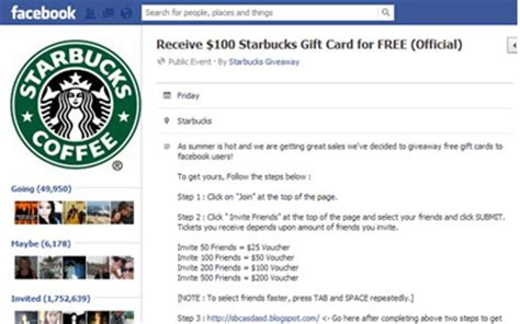 Facebook Free Gift Card Scams - 6 biggest facebook scams grandparents com