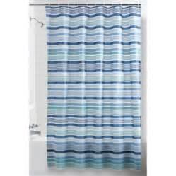 mainstays blue stripe peva shower curtain walmart