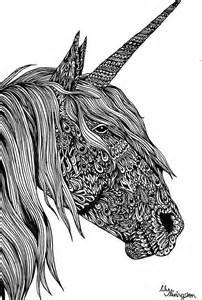 similar unicorn original illustration a4 ink
