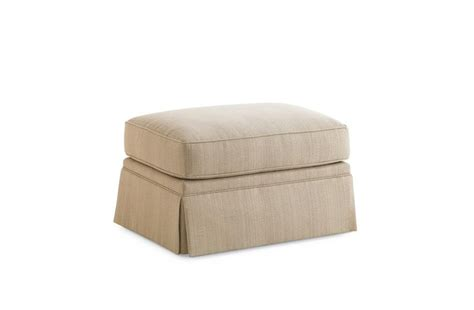 skirted ottoman the skirted ottoman pouf portland caracole light luxury