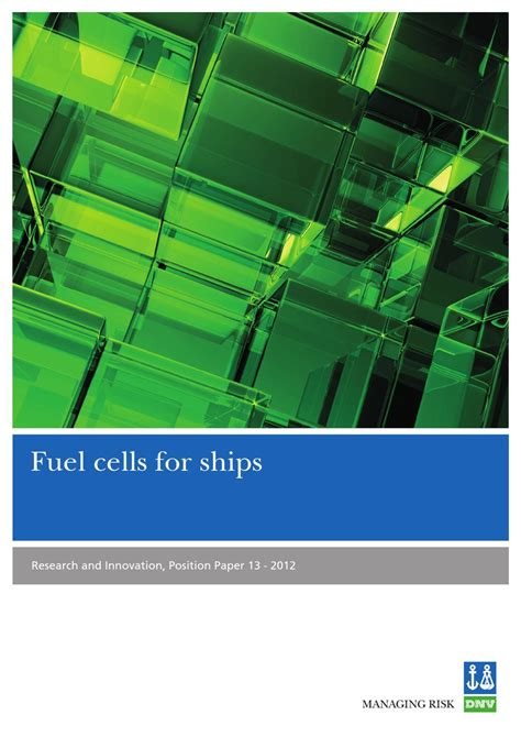 fuel cell research paper fuel cell position paper by dnv gl account issuu