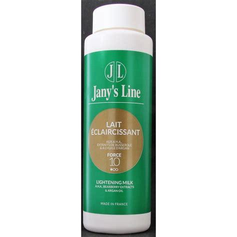 jany s line lait eclaircissant aux a h a extraits de busserole et a l huile d argan edna