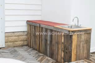 Folding Island Kitchen Cart pallet countertop a herringbone pallet deck addition