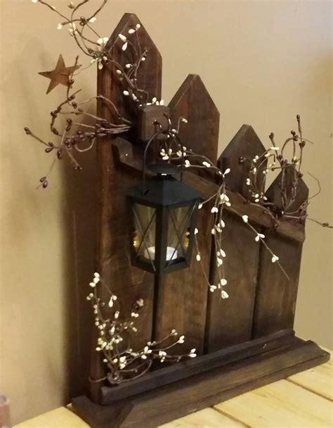 make primitive decorations primitive lantern candle holder decor rustic reclaimed