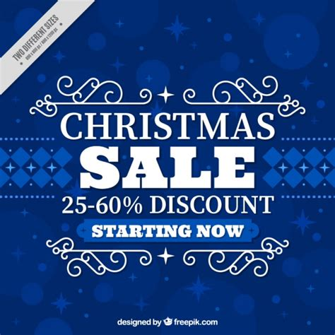blue background of christmas sales vector free download