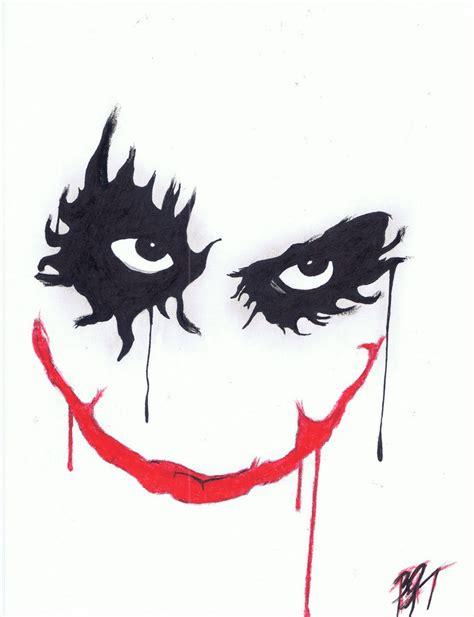 Full Joker Face By Thefancifulghost On Deviantart Drawings Of Joker Faces 2