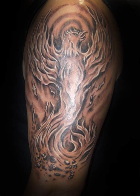black and grey phoenix tattoo designs black and grey will spencer