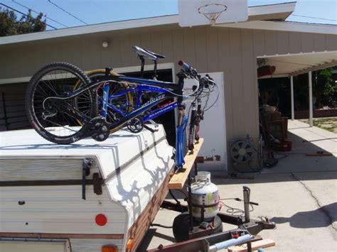 Diy Pop Up Cer Bike Rack by Bike Rack For Pop Up Trailer Diy Ideas