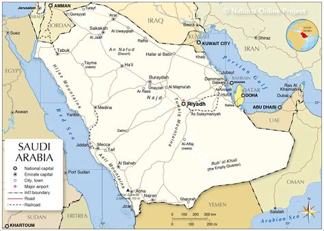 political map  saudi arabia nations  project