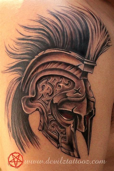 helmet tattoo 60 spartan tattoos