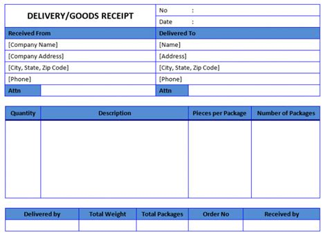 receipt of goods template word 50 free receipt templates sales donation taxi