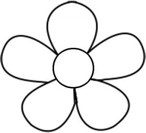 easy flower template free printable flower templates clipart best