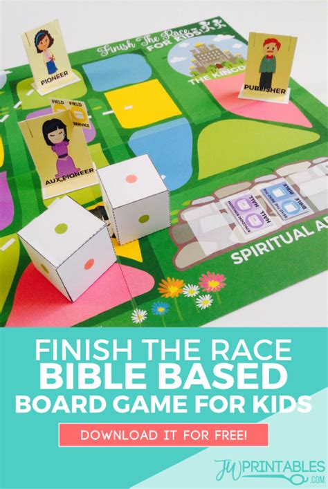 printable bible card games finish the race free printable board game for jw kids