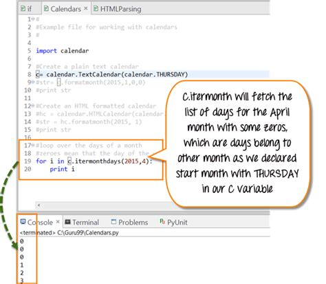 how to make a calendar using html python calendar tutorial with exle