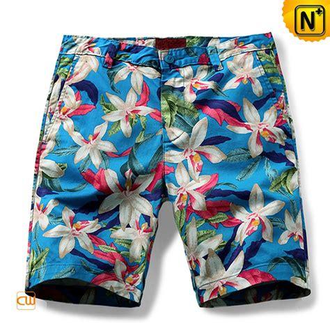 Floral Print Shorts mens plus size floral print shorts cw140436