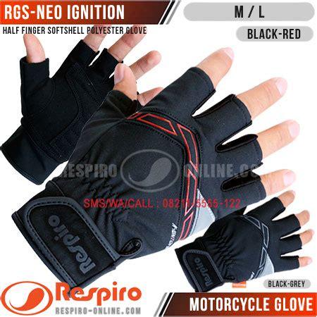 Sarung Tangan Motor Half Kulit Asli Ready Stok sarung tangan respiro motor kulit glove