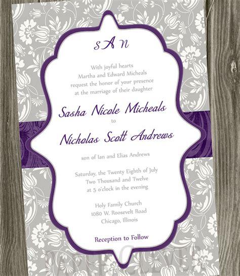 Cheap Purple Wedding Invitations by Cheap Purple Wedding Invitations Wedding Invitation Ideas
