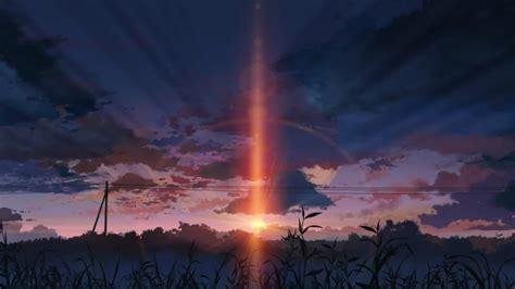 5 centimeters per second sunset 5 centimeters per second anime landscapes