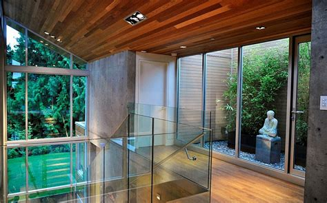 tranquil private forest house  vancouver invites nature