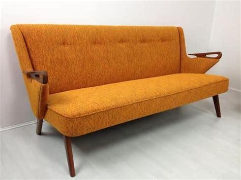 vintage orange sofa vintage orange sofa loveseat via mcm pinterest