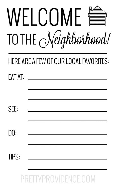 welcome to the neighborhood card template new welcome gift