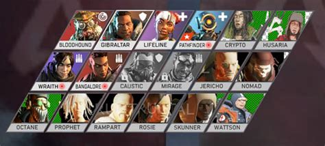 apex legends character roster  grow