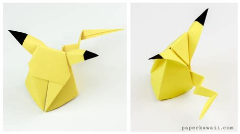 Where Can I Get Origami Paper - origami pikachu tutorial origami paper