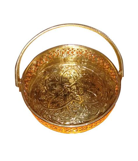 Indian Decorative Items Brass Basket For Pooja Items Small Buy Brass Basket For