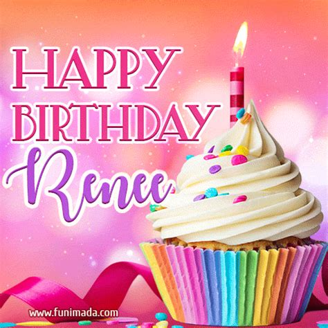 happy birthday renee lovely animated gif   funimadacom