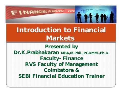 Mba In Financial Markets Scope by Financial Markets