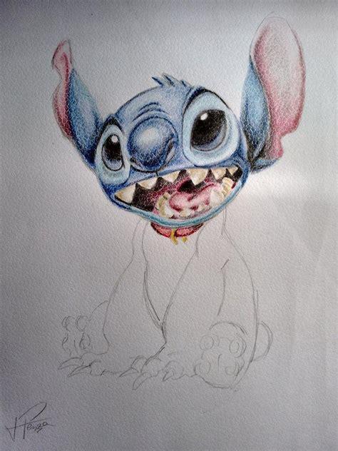 stitch color mi primer dibujo a color stitch arte taringa