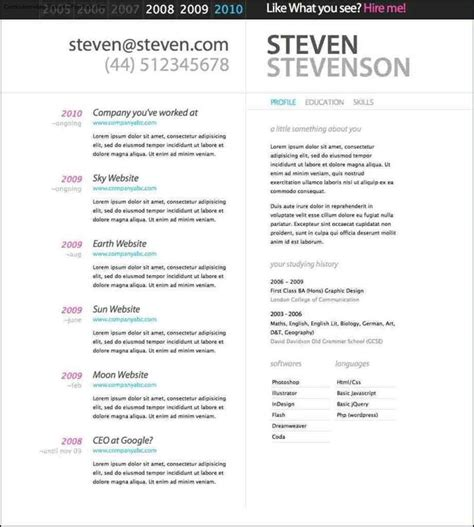 pretty resume template beautiful resume templates free sles exles