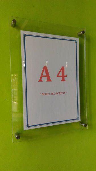 jual acrylic akrilik frame poster akrilik dinding