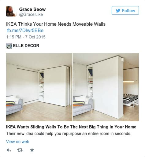ikea moving wall ikea will be making it possible to move the walls in your
