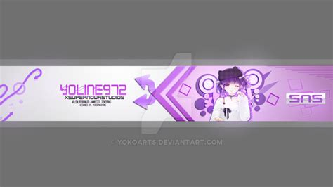 youtube banner 7 design by yokoarts on deviantart youtube banner 23 anime xsupernovastudios by yokoarts on