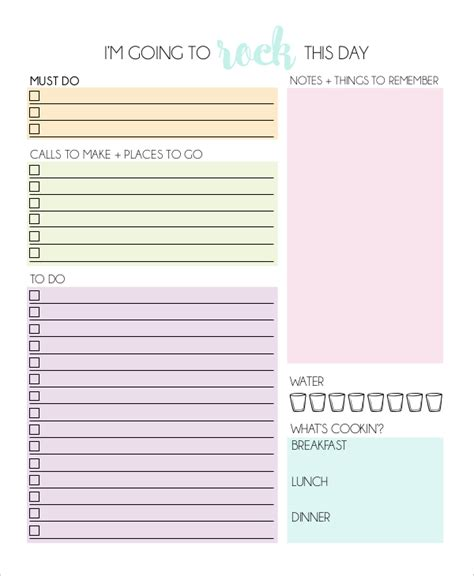 daily planner template download 11 daily planner templates free sle exle format