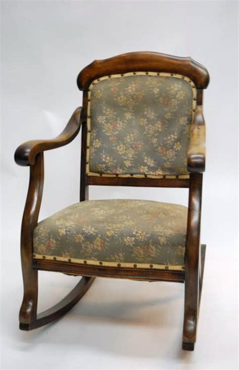 vintage upholstered rocking chair home design ideas
