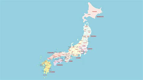 imagenes del pais japon mapa pol 237 tico de jap 243 n con nombres