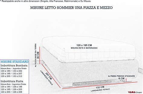 misura materasso una piazza e mezzo letto con contenitore una piazza e mezza senza testata sommier