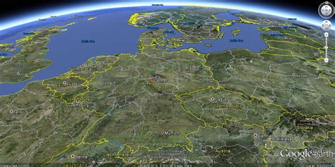 germany satellite map germany map and germany satellite images