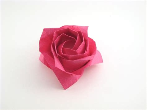 Rosa Origami - origami world flowers and animals by toshikazu
