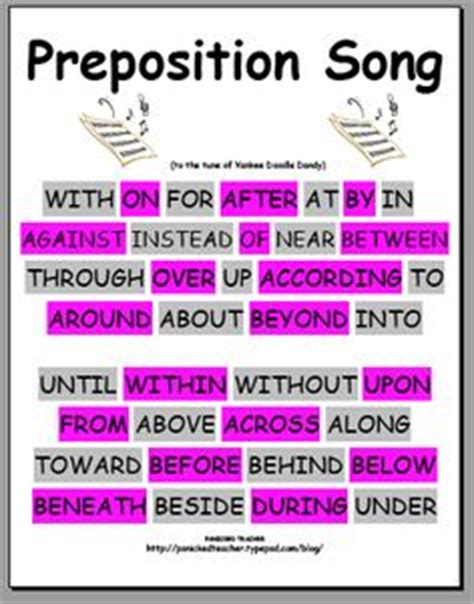 doodle meaning with sentence for preposition practice a bunch of preschool poems
