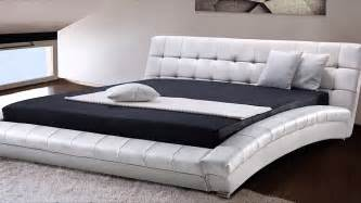 King Size Futon Beliani King Size 6 Ft Leather Bed Incl
