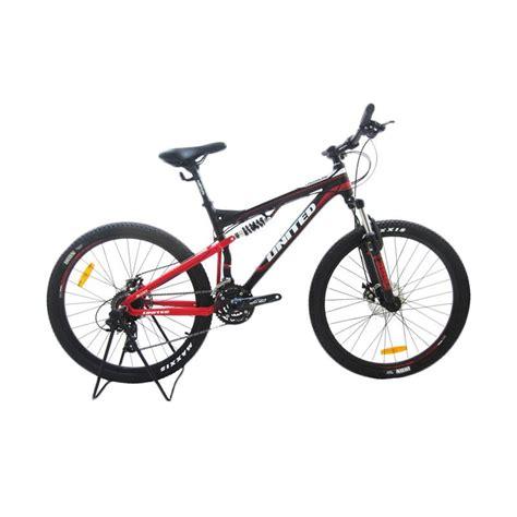 jual united sepeda mtb crossline 3 0 hitam 26 inch