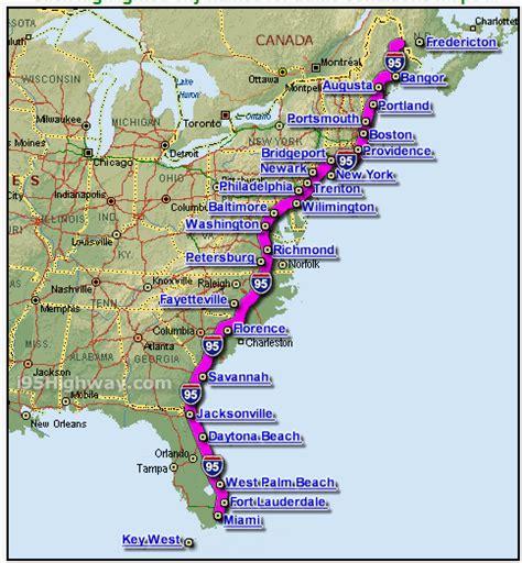 Road Map Usa 95   samochodem po usa wschodnie wybrzeże architekci podr 243 ży